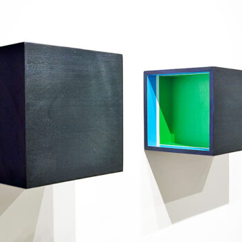 Space holder for a blue, white and green space, 2012